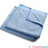 Синей мягкой печати ткань из микроволокна яркий Weft вязание ткань для очистки