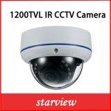 caméra de sécurité fixe à l'épreuve du vandalisme de dôme de télévision en circuit fermé de 1200tvl IR IR