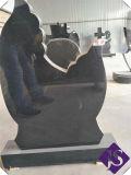 Русский стиль Китай абсолютной черного гранита памятник / Gravestone / Tombstone 1200*600*70мм