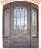 Искусствоа и произведенная дверь славного шикарного внешнего утюга обеспеченностью одиночная