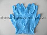 مستهلكة زرقاء لون مسحوق حرّة نتريل قفّاز لأنّ يفحص