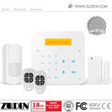 Охранная сигнализация GSM беспроволочная домашняя с кнопочной панелью управлением & касанием APP