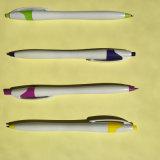 Crayon lecteur de bille en plastique d'Eco d'approvisionnement avec le point de 0.7mm
