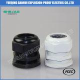 Пластиковый черный/белый с метрической резьбой кабельных сальников