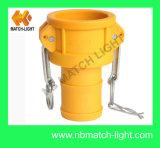 Acoplador de plástico tipo C com mangueira ranhurada Shank Camlock Coupling