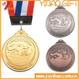 이중 면 인쇄 로고 기념품 메달 (YB-LY-C-29)로 도금되는 주문 금
