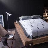 Linho de base impresso luxo do jogo de quarto da tela de algodão