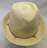 Chapeau unisexe d'été de paille de chapeau feutré de mode