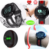 Blood Pressure Monitor Dm58를 가진 방수 Smart Silicone Bracelet