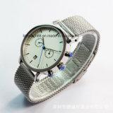 Movimiento suizo de los hombres Sport reloj de pulsera con la banda de caucho de silicona