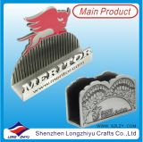 Supporto di scheda di nome di affari del supporto di scheda di nome del metallo di Singapore 3D