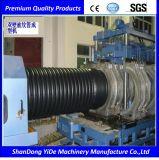 Máquina acanalada de un sólo recinto del plástico del estirador del tubo de PE/PP/PVC