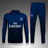 A venda quente ostenta o revestimento de Jersey do futebol do treinamento do inverno do futebol do kit de treinamento do clube do futebol do terno