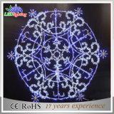 Indicatore luminoso bianco di festa LED del fiocco di neve della decorazione esterna di natale