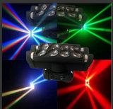 licht van de LEIDENE 8*10W RGBW het Bewegende HoofdStraal van de Spin