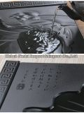 Il ricordo cinese poco costoso Artware del regalo del cassetto del caffè del tè Handcraft/il nero della pietra Tranditional/del granito della Cina, cassetto verde scuro e grigio del caffè del tè