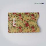 O titular do cartão populares da Luva do cartão impermeável com papel