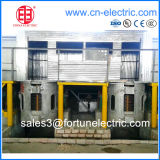 Shell de alumínio Coreless Medium Frequency Induction Melting Furnace para Steel/Iron Melting