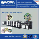 Impresora rotatoria intermitente compensada de la escritura de la etiqueta de Shaftless (alcohol que humedece) (WJPS660)