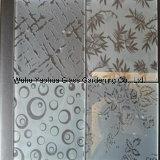 Самое лучшее качество 3-19mm заморозило вытравленное кислотой декоративное стекло искусствоа для Buliding