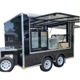 Ontbijt die de de de Mobiele Aanhangwagen van het Voedsel/Boodschappenwagentjes van het Voedsel/Kar van het Voedsel van de Ijslolly verkopen