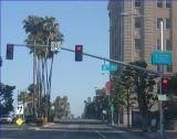 単一アーム6-15m通りの交通信号ライトコラム