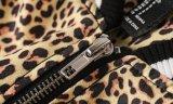 Revestimento longo tecido da luva do leopardo 100%Polyester cópia unisex