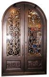 Классическая двойная дверь утюга круглой верхней части изготовленный на заказ роскошная