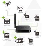 Boîtier décodeur intelligent androïde du faisceau IPTV TV de la quarte S905