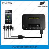 système domestique 4W solaire portatif avec 3 l'ampoule de PCS 1W et le chargeur de téléphone