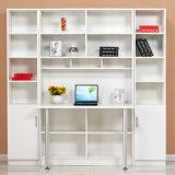 Белый деревянный стол компьютера 2018 с Bookcase