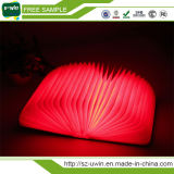 Voyant LED pliable livre Livre de la lampe portable