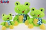 Reizendes nettes Baby angefülltes grüner Frosch-Tier mit blauem Schal