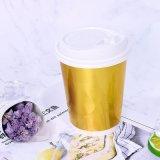 Taza de papel de Kraft de la taza doble disponible del papel de empapelar