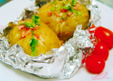 papel de aluminio del hogar de la categoría alimenticia 1235 de 0.010m m para las patatas de la asación