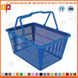 Supermercado Popular de alambre de metal de compras Cesta portable (ZHb154)