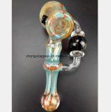 5.9 Zoll-Glasrauch-Rohr-Filter-Tabak, der Wasser-Rohr aufbereitet
