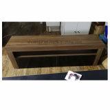 Nuevo diseño de muebles de la esquina de cristal UV LED Soporte de TV
