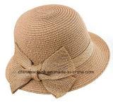 Primavera Verano tapa lateral de la cuchara Cloche Hat