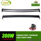 CREE 50pouces lignes incurvées de 300 W double barre lumineuse à LED