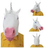 Máscara espeluznante del fiesta del traje de Halloween Carnaval Deluxe látex Unicorn Head