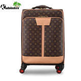 Chariot à la mode le plus récent jeu matériel de bagages en cuir Sac À BAGAGES Les bagages de voyage