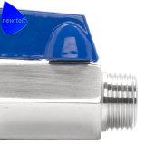 Mini acciaio inossidabile della valvola a sfera Ss316 M/M