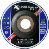 Discos abrasivos, rodas de moedura para o metal 115X6X22