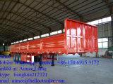 半中国人3の車軸50t貨物トラックのトレーラーの貨物ボックストレーラー