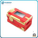 Oxímetro Novo-OLED do pulso da ponta do dedo do indicador com Pulso-Barra (vermelho dourado)