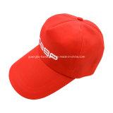 習慣によって印刷される赤い野球5のパネルの帽子