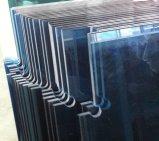 Donkerblauwe Weerspiegelende Glas Aangemaakte Deuren