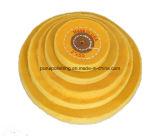 Roue de polissage de polissage de mousseline jaune pour le bijou