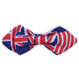 New Safety Pin Design Canvas Pointed Kids Bowtie Padrões impressos